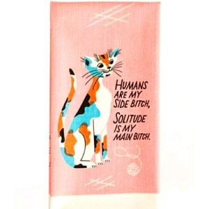 😽HP😽Blue Q Humans Are My SideB*tch Towel🐈